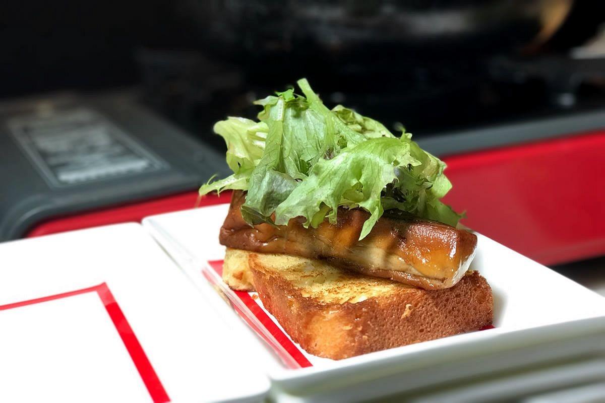4香煎鴨肝襯布莉歐麵包佐洋蔥番紅花醬4.jpg