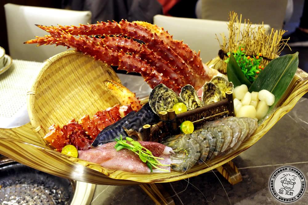 板橋車站附近也可以吃到帝王蟹吃到飽.原月日式頂級帝王蟹燒烤吃到飽