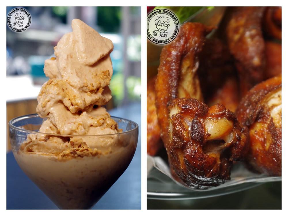 吃到目前心中第一名的炸雞竟然是在冰店裡,不只是招牌花生冰沙好吃、炸雞也好吃、披薩千層塔也很好吃.Aqua Kiss水吻