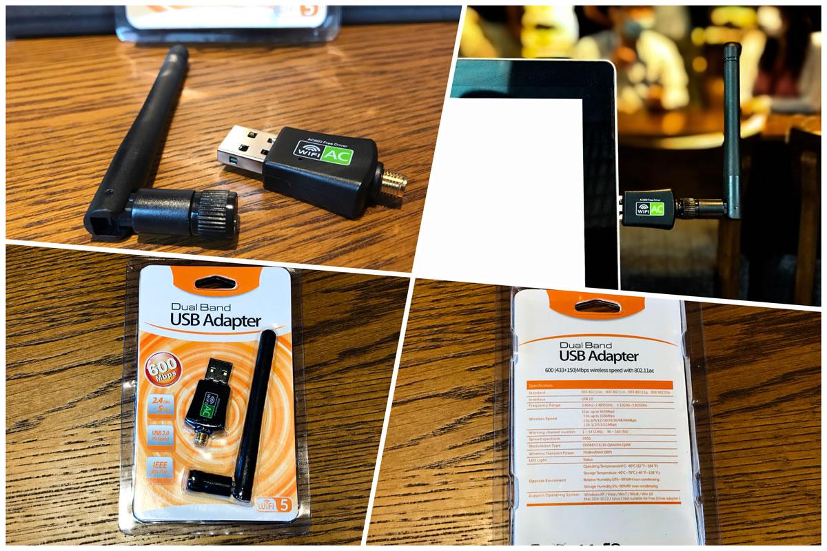【開箱文. 無線網卡 】免驅動 5G 雙頻 高速600M 天線款 台灣瑞昱 迷你網卡 USB 無線網卡.雙頻600M USB無線網卡.開箱文