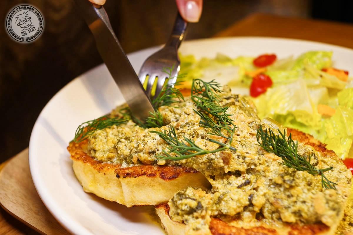 2奶油菠菜燻鮭魚法式吐司2